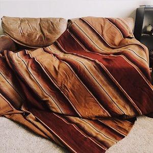 Vintage Striped Woven Wool Serape Blanket